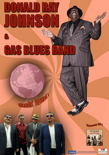 Illustration pour « Donald Ray Johnson and Gas blues Band »