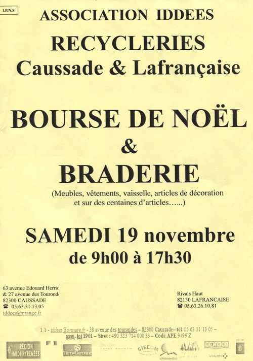Illustration pour « Braderie de l'association IDDEES »